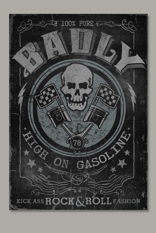 HIGH ON GASOLINE Poster