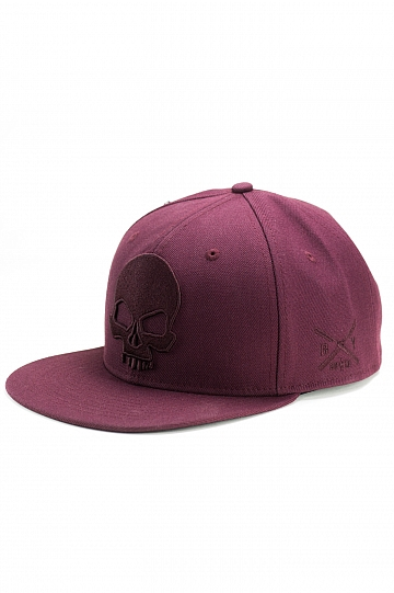 BADLY CAP Skull Deep Red