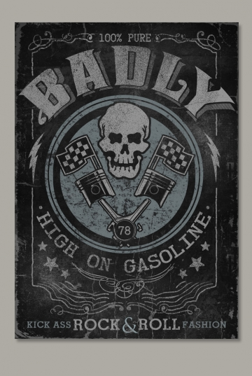 HIGH ON GASOLINE Poster